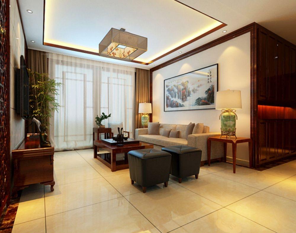 三居室现代风格客厅沙发背景墙