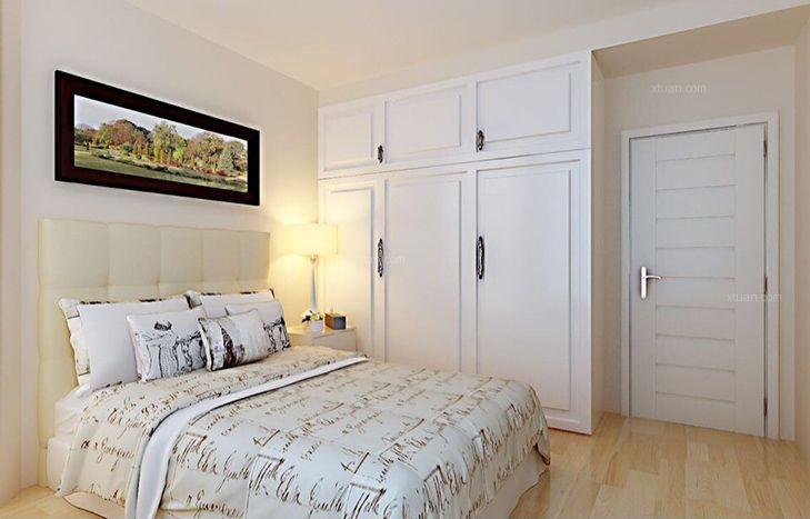 两室两厅现代简约卧室卧室背景墙