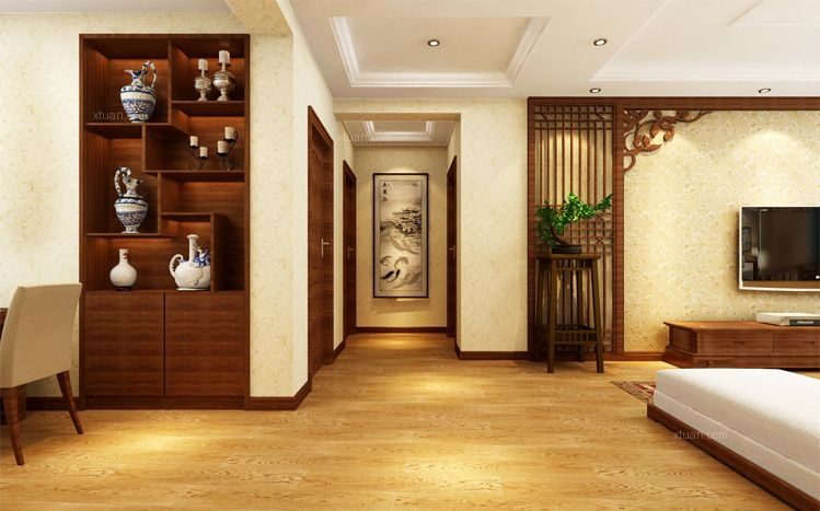 三居室中式风格过道