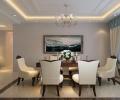 华润凤凰城157平装修案例-美式风格