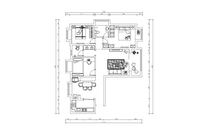 【锦艺国际华都】110平三居室效果图