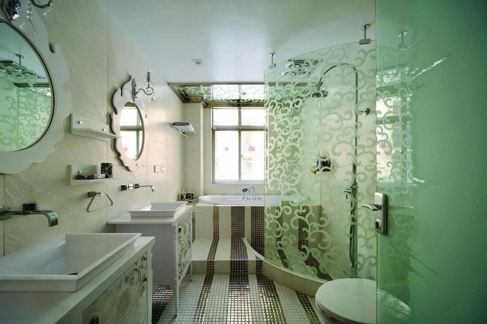 别墅欧式风格卫生间软装