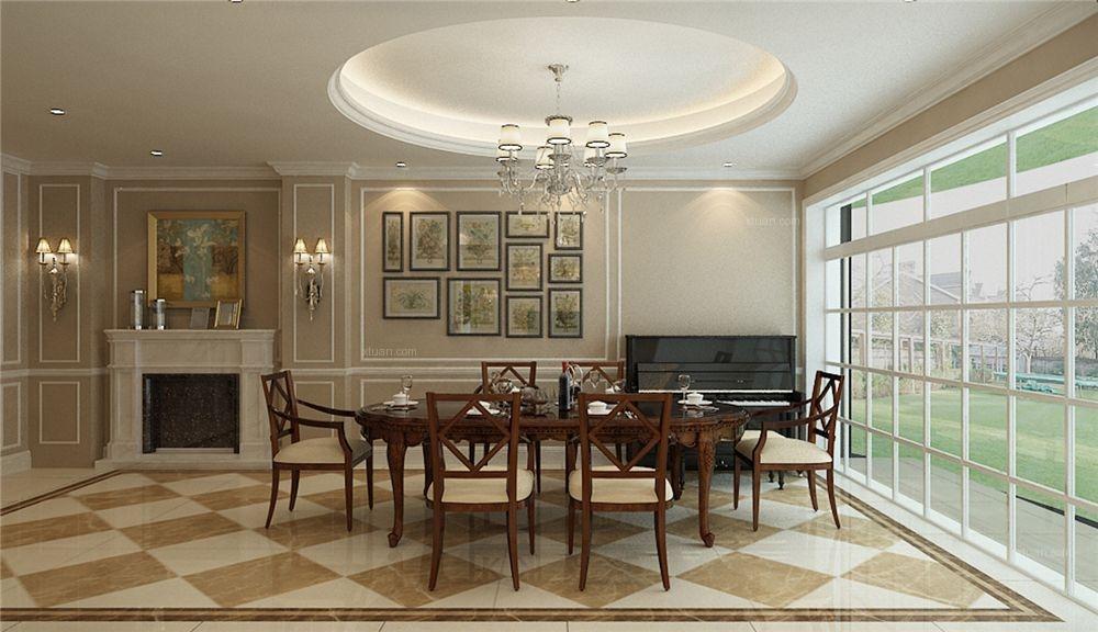 长堤花园别墅装修简约欧式风格设计方案