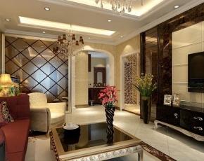 保利时代三居室简欧风格装修设计低调的小奢华