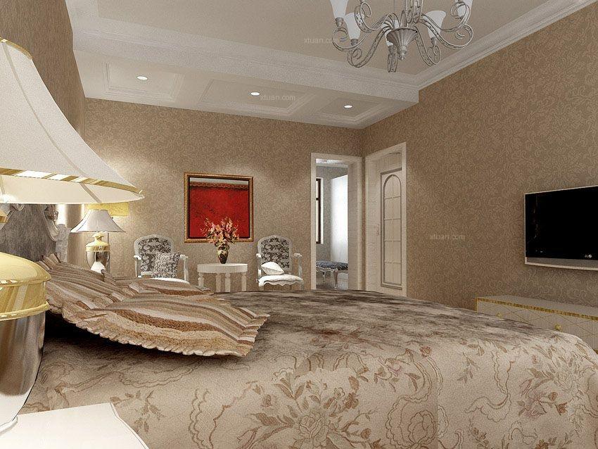 三居室东南亚风格主卧室