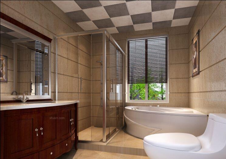 独栋别墅中式风格卫生间图片