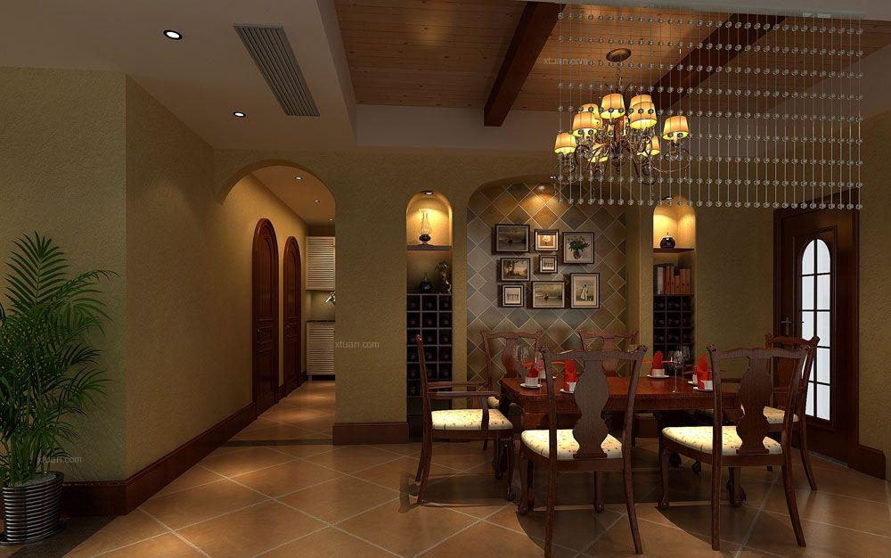 四居室田园风格餐厅