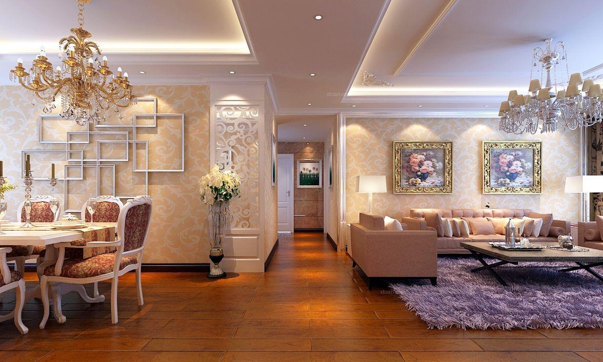 四居室现代风格过道客厅隔断