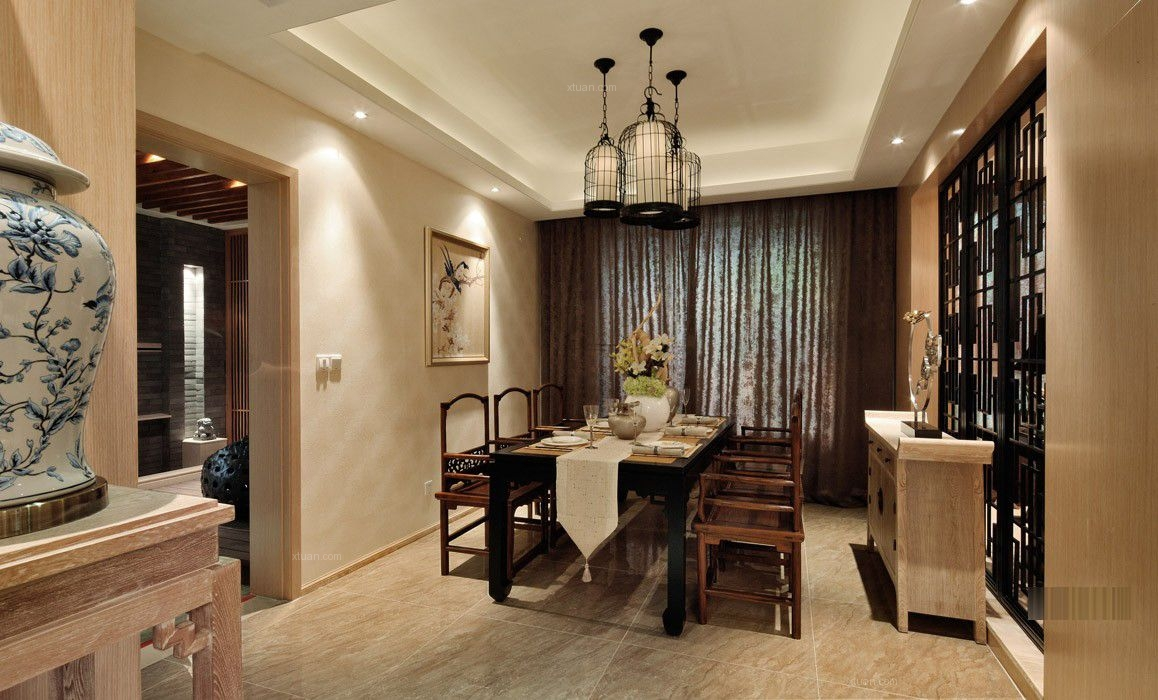 三室两厅中式风格餐厅