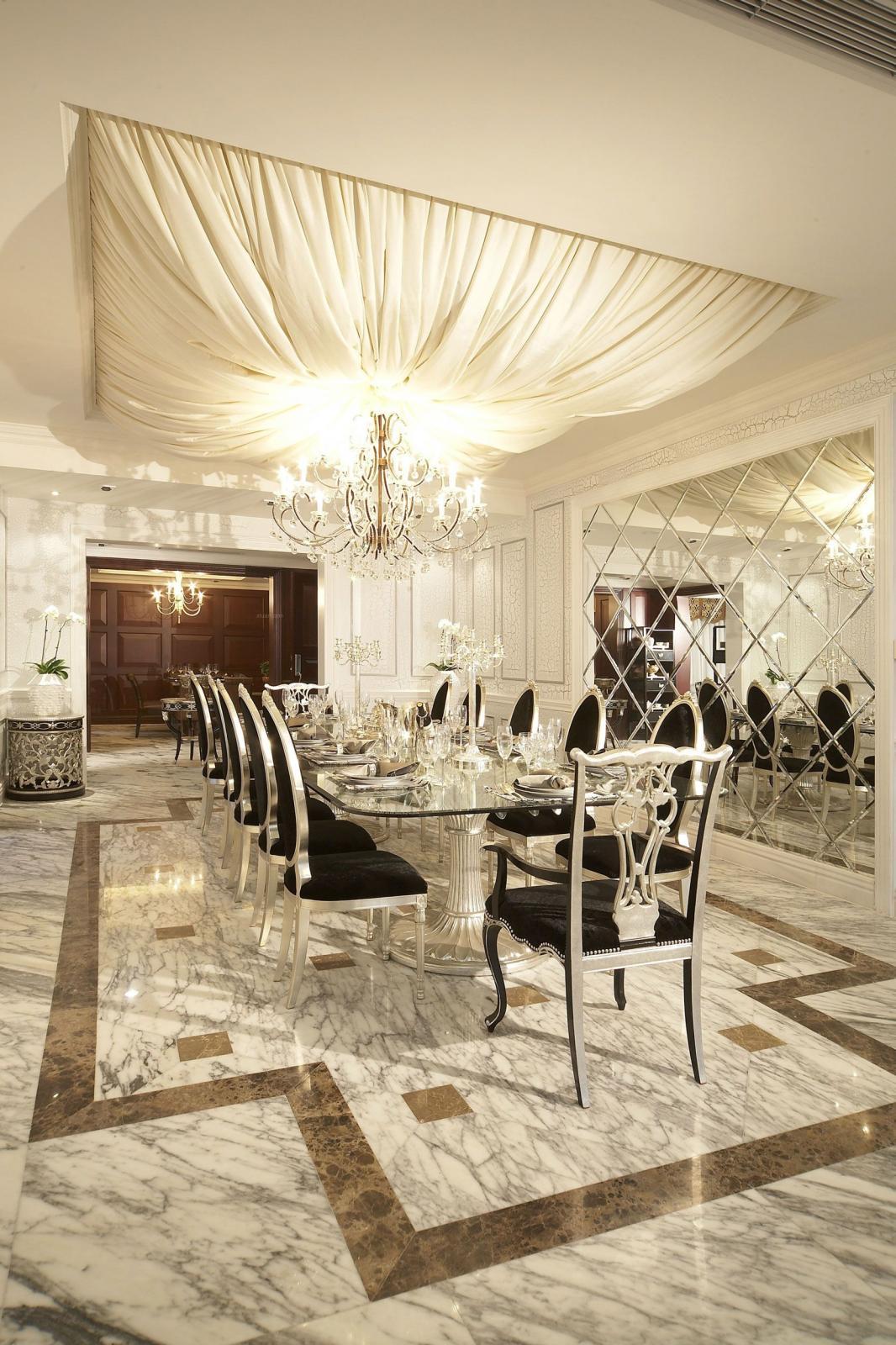 别墅欧式风格餐厅软装
