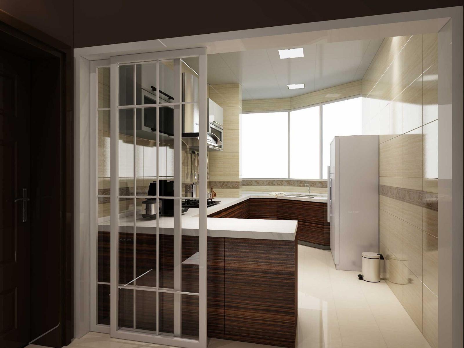 三室两厅现代简约厨房