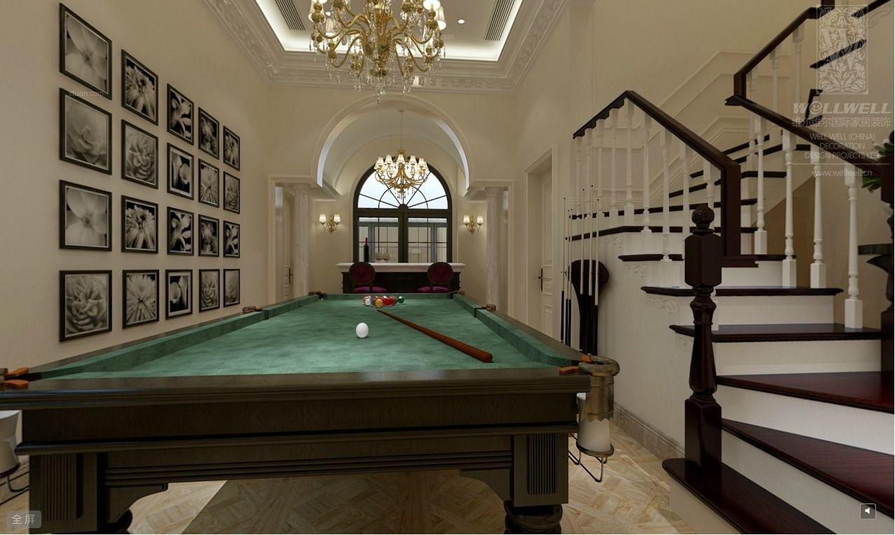 别墅欧式风格地下室