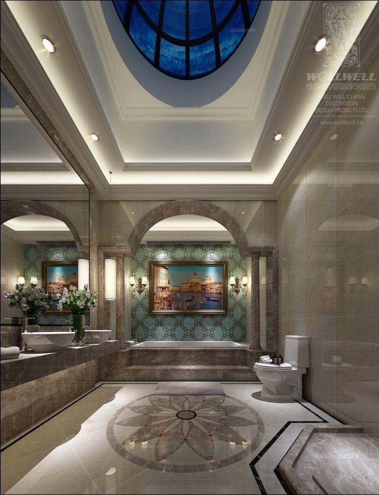 龙湖U城听蓝湾320平高雅欧式别墅设计