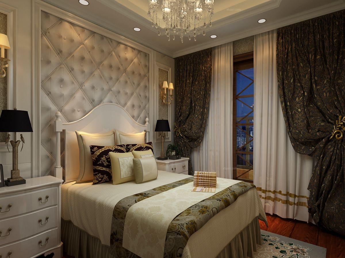 两居室欧式风格卧室卧室背景墙