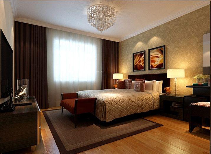 三居室现代简约卧室