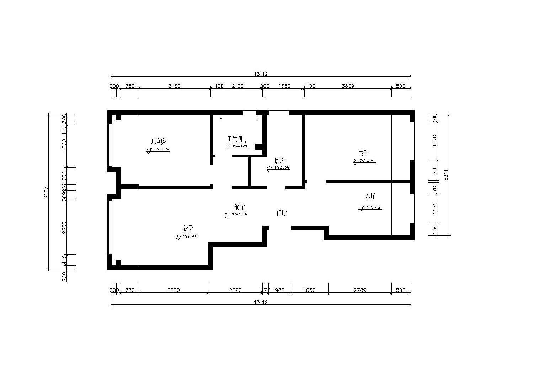 三室一厅交换空间