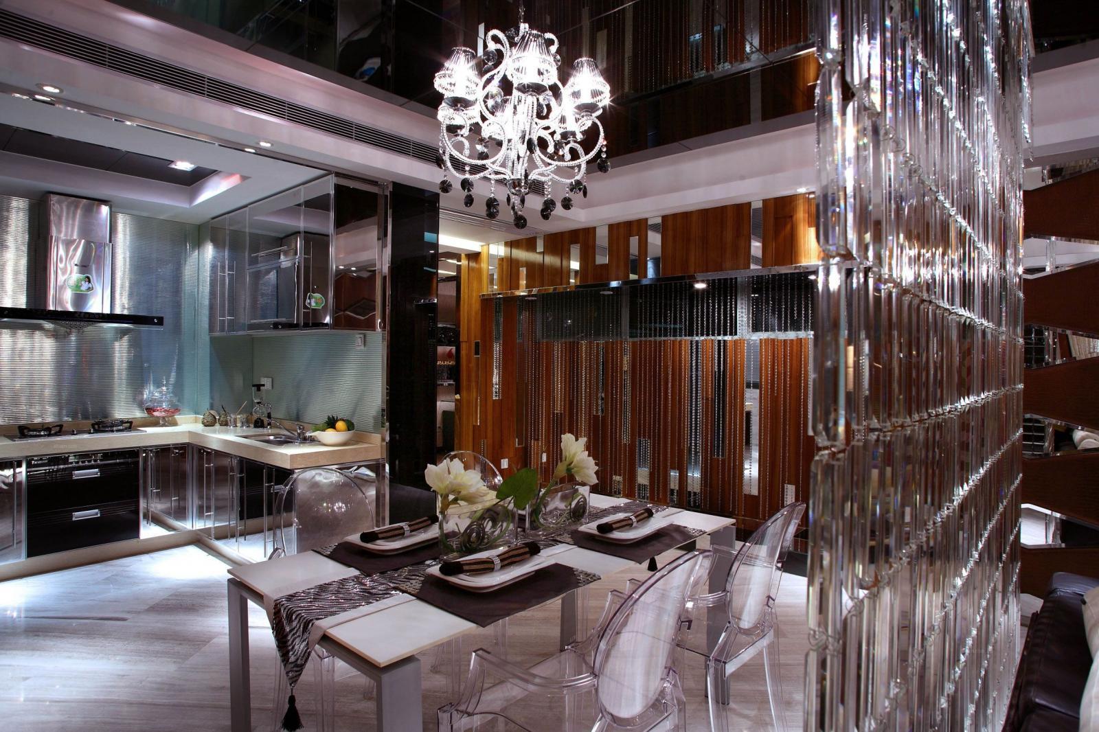 四居室混搭风格餐厅软装