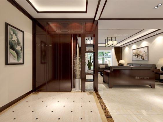 四居室中式风格过道地台