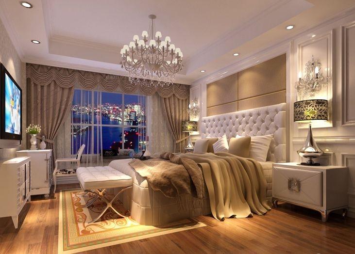 三居室欧式风格卧室_香城雅郡豪华欧式装修效果图-x团
