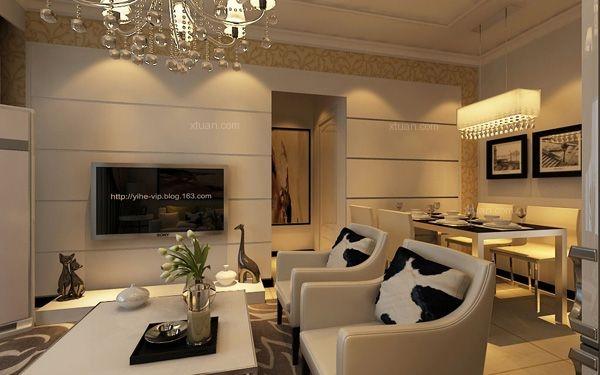 盛泰公园盛世80平米两居室现代风格