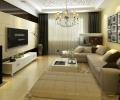 实创装饰翡翠外滩140平三居室现代风
