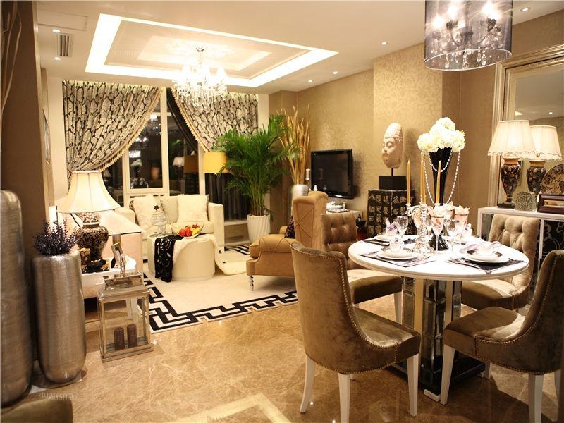 两室两厅欧式风格餐厅