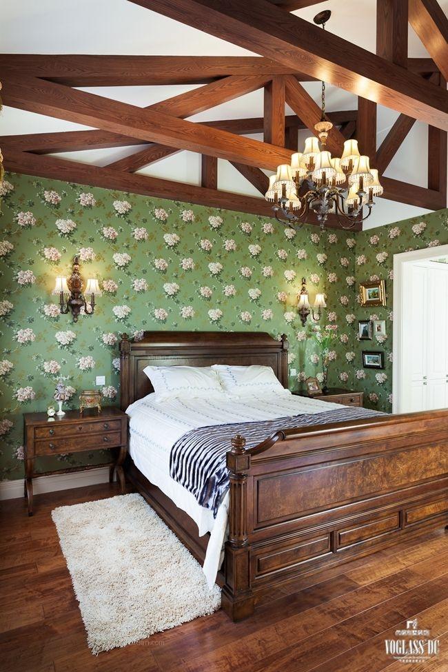 别墅现代风格卧室墙绘