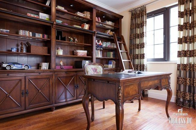 别墅现代风格书房榻榻米