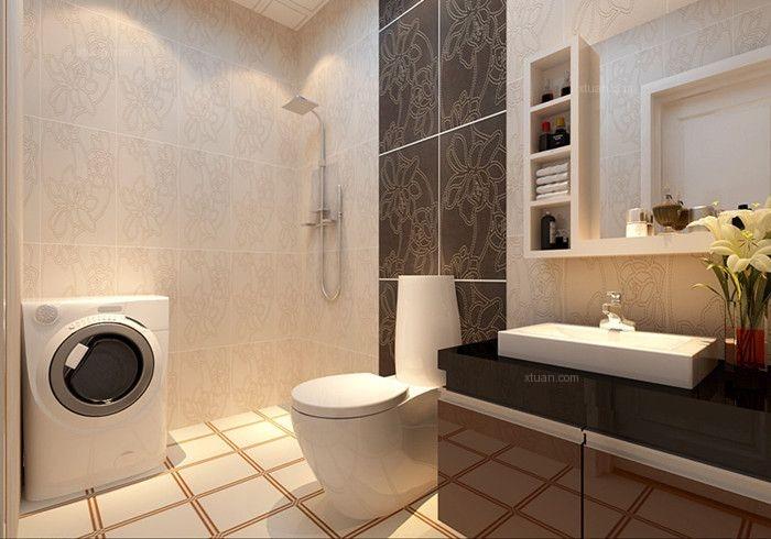 两居室现代简约卫生间照片墙