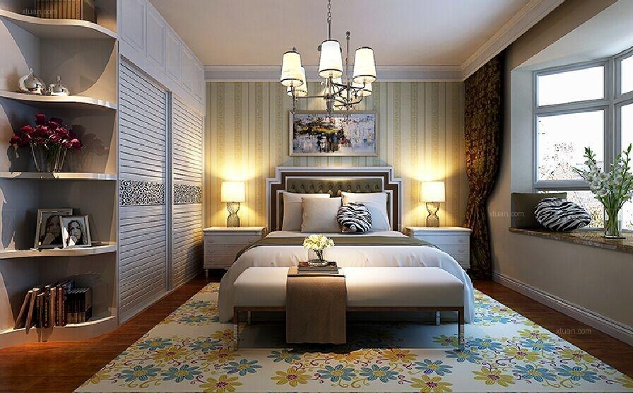 三居室现代简约主卧室卧室背景墙