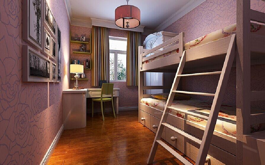 三居室现代简约小卧室卧室背景墙