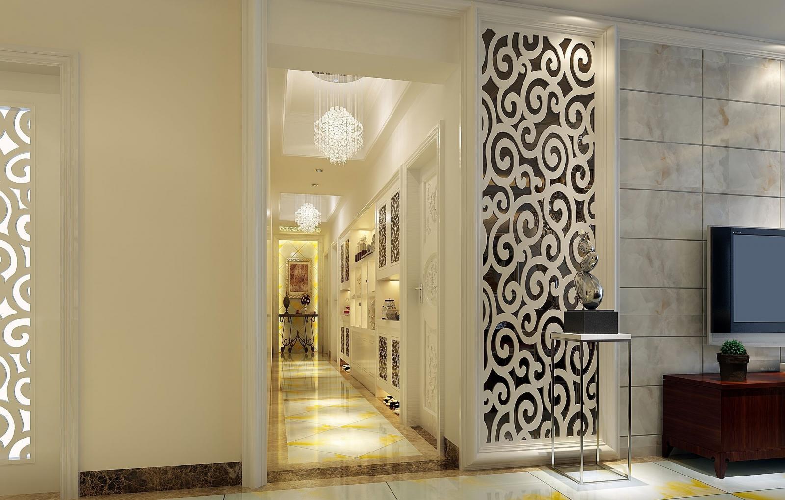 四居室欧式风格玄关墙绘