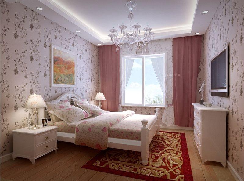 别墅混搭风格儿童房卧室背景墙
