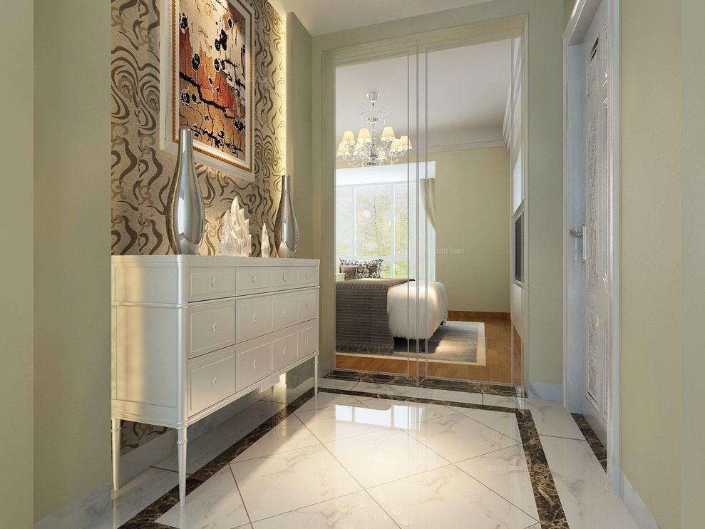 三居室混搭风格卫生间卧室背景墙