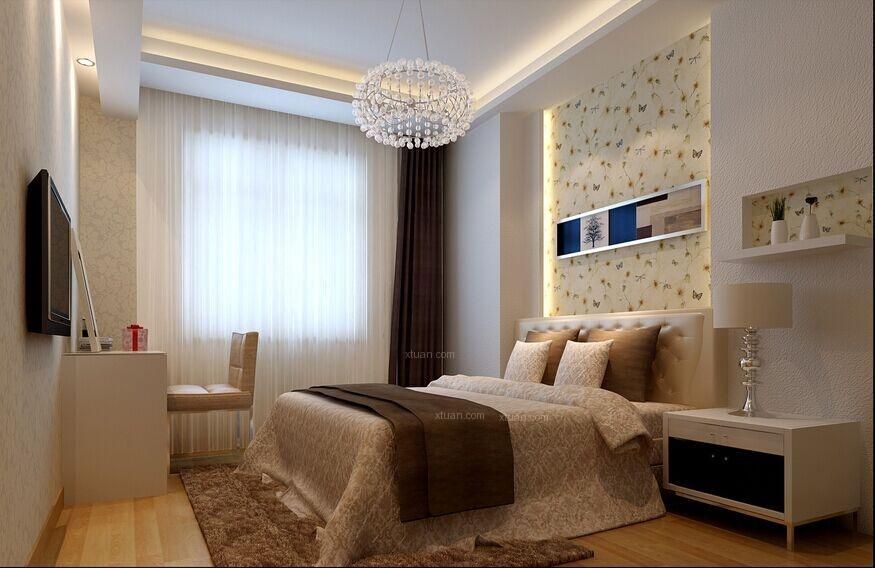 四居室现代简约卧室卧室背景墙