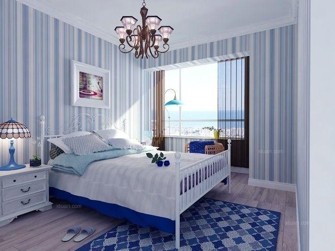 三居室地中海风格卧室卧室背景墙