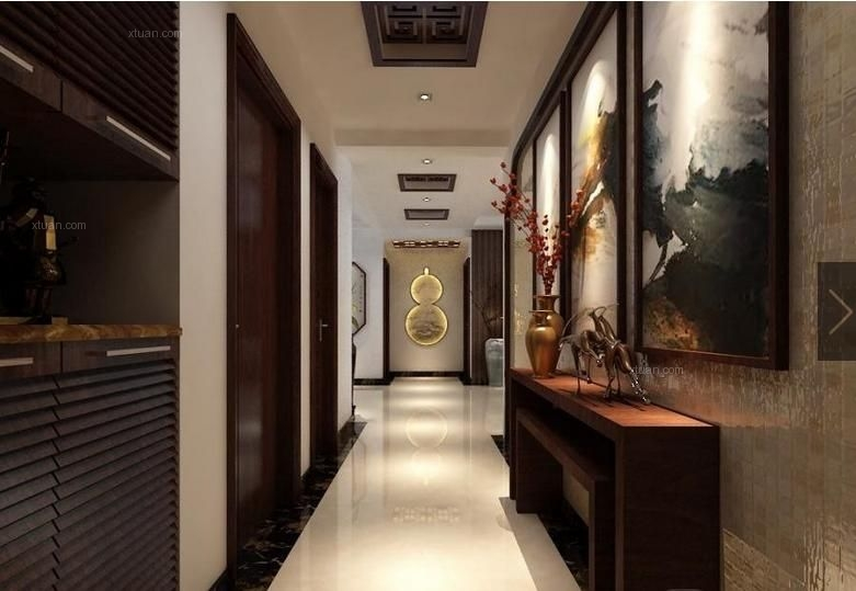 三室两厅中式风格过道