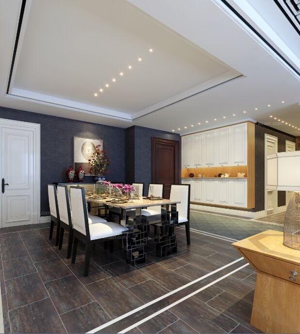 三居室中式风格餐厅客厅隔断