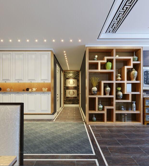 三居室中式风格休闲区隔断