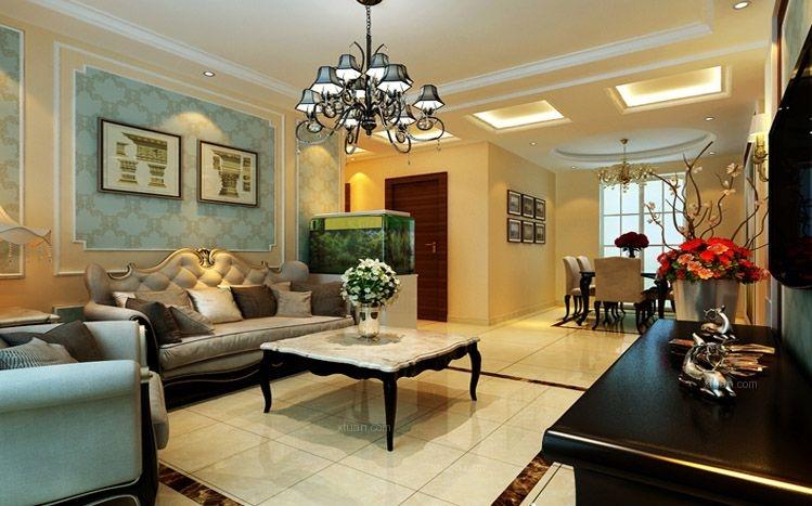 7.5万打造中海国际106平米温馨浪漫之家