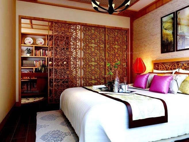 两室一厅东南亚风格卧室