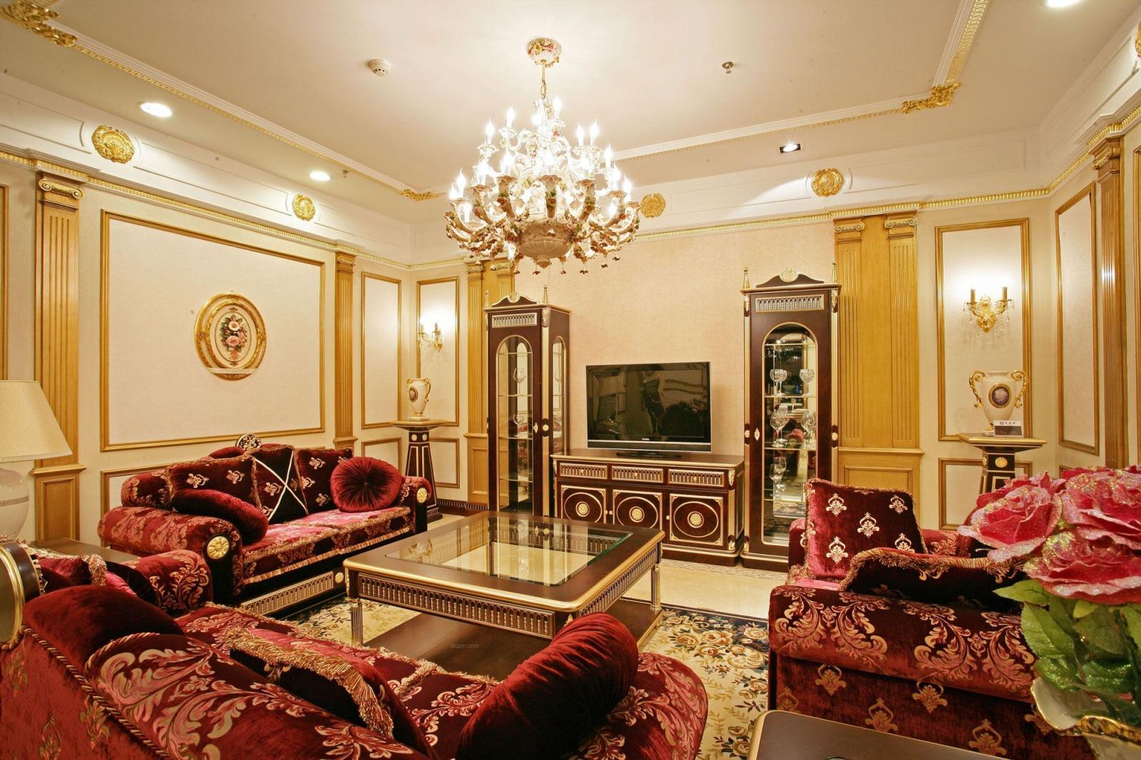 四居室古典风格客厅软装