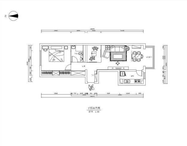 两居室交换空间