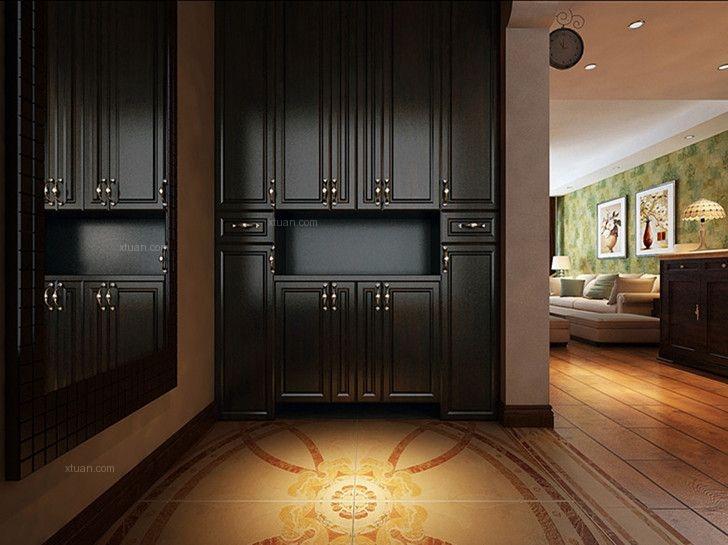 三居室中式风格玄关软装