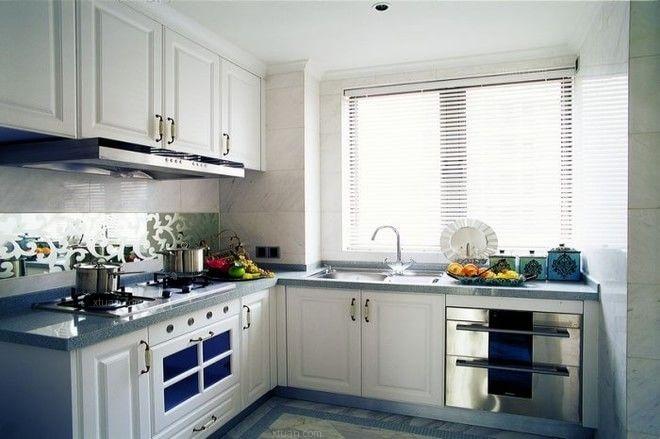 三居室欧式风格厨房墙绘