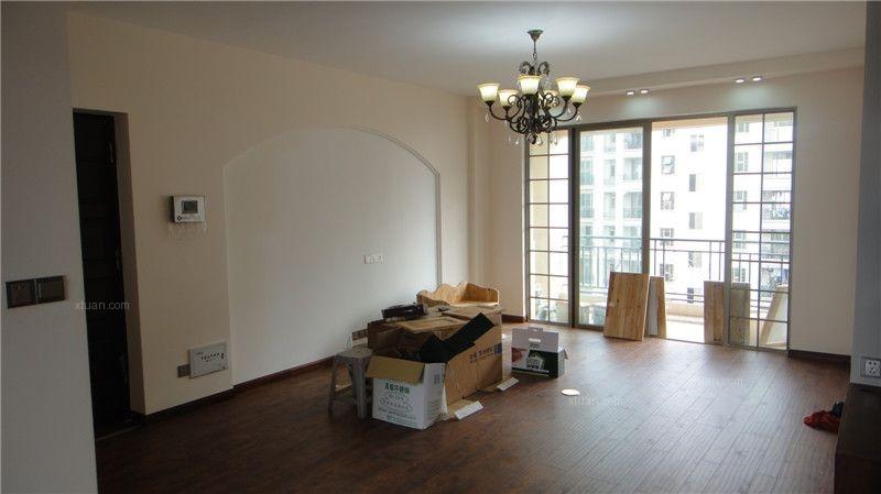 三居室美式风格客厅_天利仁和简美装修效果图-x团装修图片