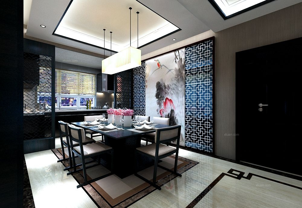 四季上东-新中式风格-哈尔滨麻雀装饰公司