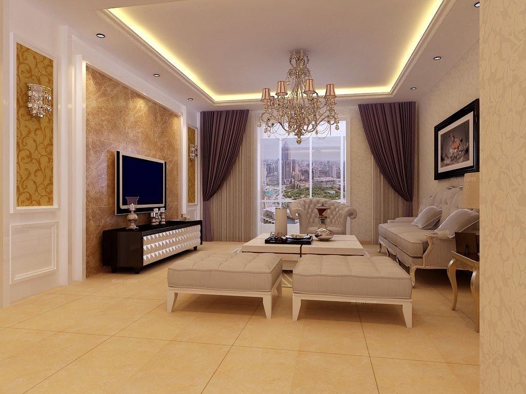 两居室欧式风格客厅_嘉元小区装修效果图-x团装修网图片