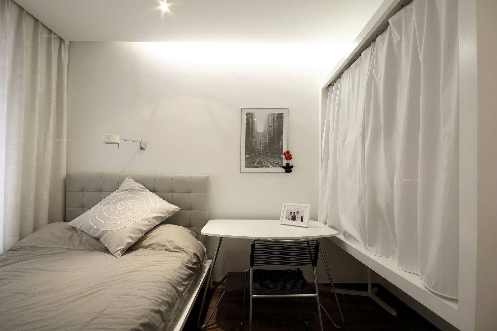 三居室现代简约卧室卧室背景墙