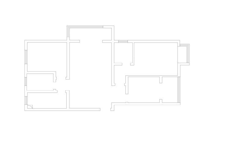 蓝海港湾130平三居暖色调装修效果图